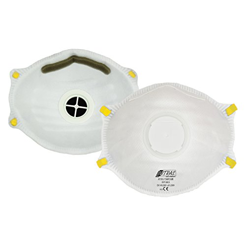 ACE 10 x Mascarilla Protectora FFP1 con Válvula, Contra Partículas, Humo, Aerosoles y Polvo, Mascarilla Protectora de las Vías Respiratorias EN149