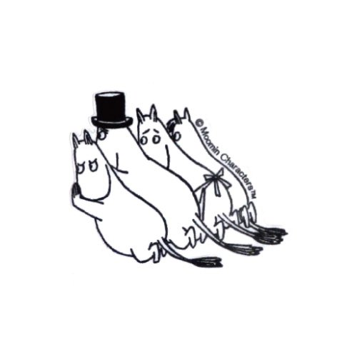 Moomin Wall stickers family stop