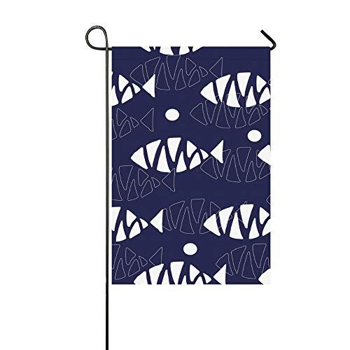 Enhusk Home Dekorative Outdoor Doppelseitige Fisch Element Geschenkpapier Garten Flagge, Haus Yard Flagge, Garten Yard Dekorationen, saisonale Willkommen Outdoor Flagge 12 X 18 Zoll Frühling Sommer