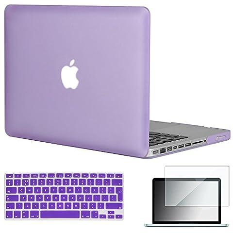 'Topideal 3en 1Coque rigide douce au toucher–Givré mat pour MacBook Pro 33,8cm [
