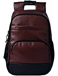 F Gear Luxur Anti Theft  25 Ltrs Brown Laptop Backpack (2743)