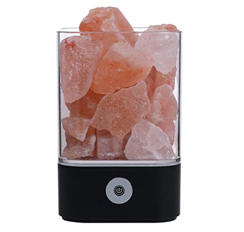 Buntes Nachtlicht neue exotische M4 Himalaya Kristall Salz Lampe Gesundheit Gesundheit Geschenk Geschenk Nachttischlampe geeignet for alle Gelegenheiten (Color : Black) -