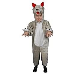 Dress Up America Little Kids Plush Wolf Costume