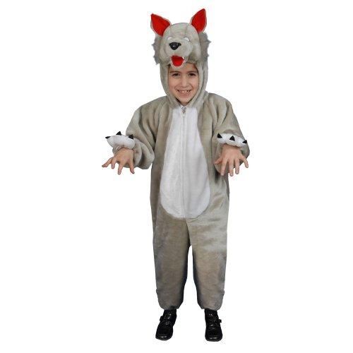 Kostüm Kind Wolf - Dress Up America Kleine Kinder Plüsch Wolf Kostüm