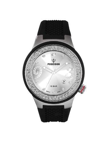Kienzle Women's Quartz Watch POSEIDON Lady Slim K2112011063-00429 with Rubber Strap