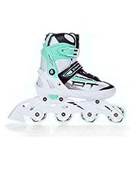 Inline Skates Inliner Raven Profession White/Green verstellbar