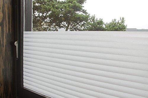 """Tamia-living Statische Fensterfolie 90% UV-Sonnenschutz Selbsthaftende Sichtschutzfolie Glasdekor """"Jalousie"""" P040 (60x100cm)"""