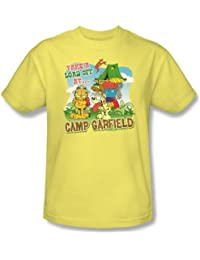 Garfield - - Camp de adulto Camiseta De Plátano