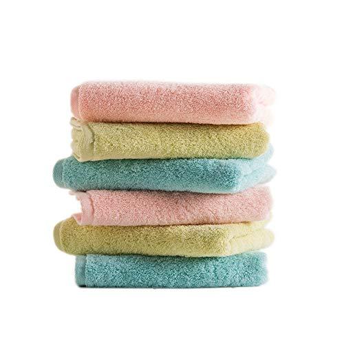 HUACANG 6 Personalisiertes Einfarbiges Handtuchset Hautfreundliches Baumwollmaterial Geeignet Für Kinder Und Kleinkinder Männlicher Und Weiblicher Haushalt Toilette Flauschiges Handtuch (Farbe : A)