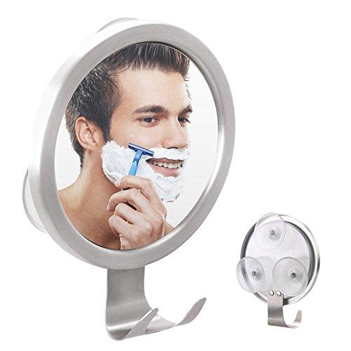 GlobaLink® Duschspiegel mit Antibeschlag Rasierspiegel Badspiegel mit Saughaken,Einstellbarer Wandspiegel mit starkem Saugknopf,Kosmetikspiegel Wandspiegel Schminkspiegel für Badezimmer,Duschen,usw