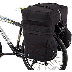 Alforjas Triple Impermeable Desmontable para Bicicleta con Funda Waterproof Cubre Lluvia de alta visibilidad 56 litros 3657