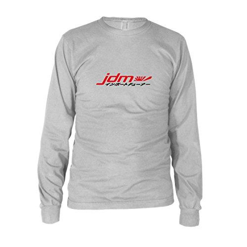 JDM Logo Japanisch - Herren Langarm T-Shirt Weiß