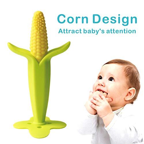 Beißring für Babys Baby Schnuller Baby Zahnungshilfe Kühlend Zahnen Spielzeug Zahnungshilfe Weich mit Schnuller Clip für Kleinkind Säugling