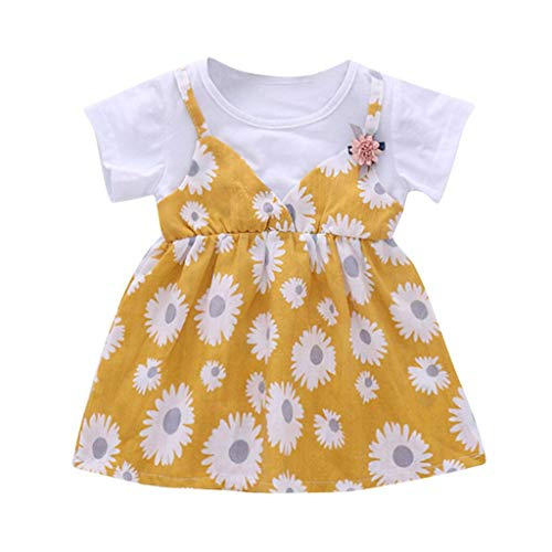 squarex  Sommer-Mädchen-Bügel-gestreiftes Kleid-Kleinkind-Prinzessin Skirt Kids Casual Skirt Baby Sleeveless Sling Sommer-bequemes Kleid (Baby Hockey Kostüm)