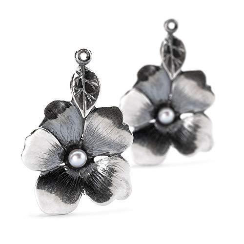 Trollbeads Silber Earring Blume der Freiheit