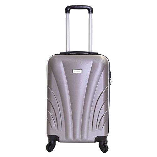 Slimbridge Ferro 55cm 4-ruedas maleta de cabina dura, Plata