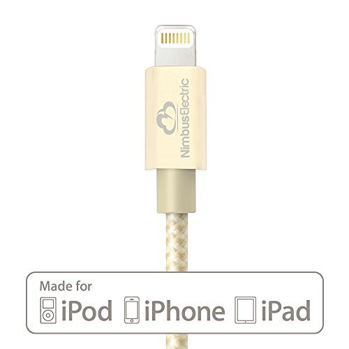 [Apple MFi certificato] Cavo Lightning a USB ● Harry Strong da Nimbus Electric® ● Connettori in alluminio ● Fodera in Nylon ● 1m ● per Apple iPhone 6/ 6 Plus/ 5s/ 5c/ 5, ipad mini/ 2/ 3, iPad Air/ 2, iPod touch 5G e iPod Nano 7G