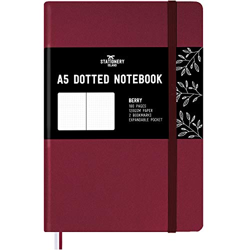 Stationery Island Carnet Pointillé A5 - Bullet Journal Baie relié avec papier haut de gamme 120 g/m²