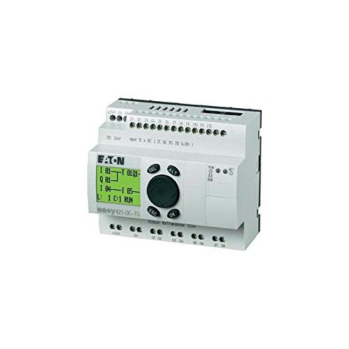 Eaton 256273 Steuerrelais EASY821-DC-TC, 24VDC, 12Di(4Ai), 8Do-Trans, Display, Uhr, erweiterbar, Easynet -