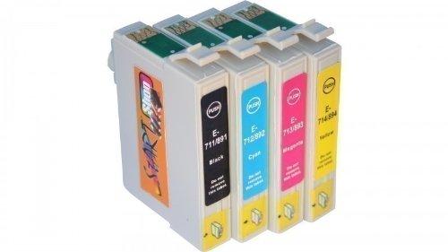 Start - 4 Ersatz Druckerpatronen kompatibel zu Epson T0711, T0712, T0713, T0714...