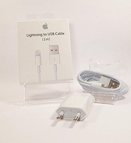 Chargeur USB + Prise secteur - Iphone 5/5S/5C/6/6 Plus - Original Apple