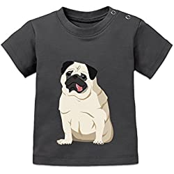 Camiseta de bebé Pug Dog Illustration by Shirtcity