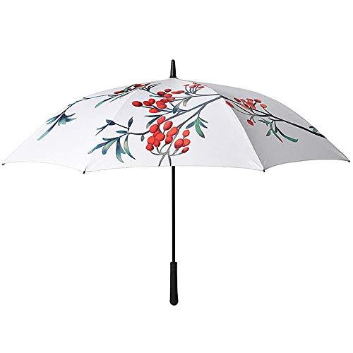 DX Regenschirm Regenschirm White Long Rod Automatic Shrink Umbrella Foldable -