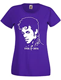 Prince Lady Girlie T-Shirt Musik Memorial Tribute Music Shirt, S bis 5XL Fan Art