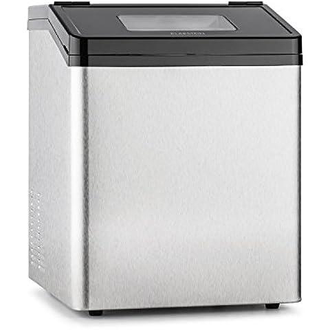 Klarstein Powericer ECO 3 máquina de hielo (450 W, 30 kg/día, depósito de 3kg, acero inoxidable, tapa con ventanilla)