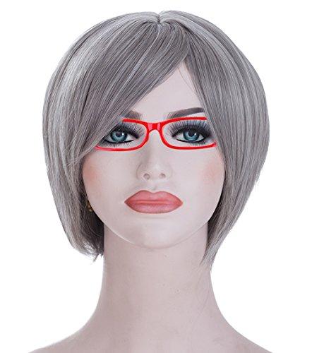 Spretty Reizvolles kurzes zierliches silbernes graues gerades Bob-Haar für das tägliche Kleid der Frauen und Cosplay (Kostüm Karneval Mascarada)