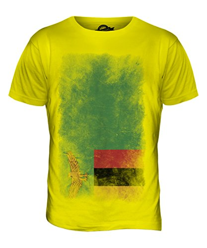 CandyMix Sambia Verblichen Flagge Herren T Shirt Zitronengelb