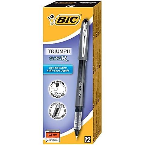 BiC 885790 - Bolígrafo de tinta líquida (trazo de 0.3 mm, 12 unidades)