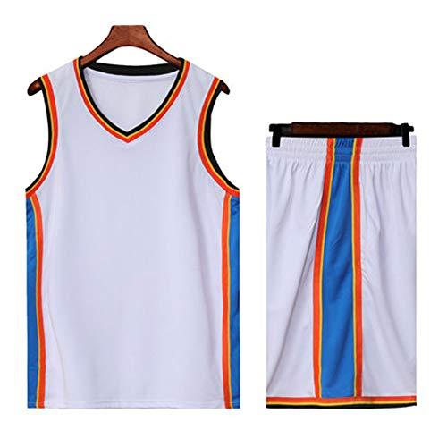 Oklahoma City Thunder NBA # 13# 0 Paul George Russell Westbrook Mann Basketball Jersey-White-L