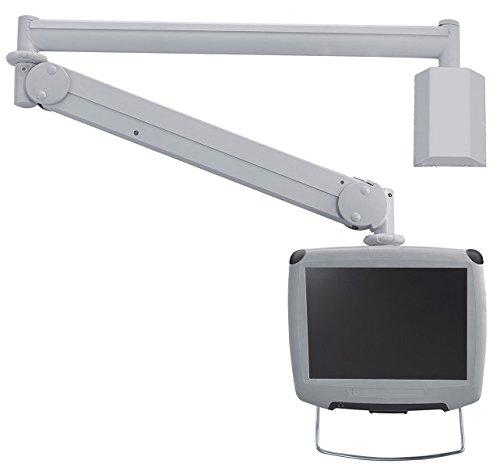 Newstar Medical-Supporto TV/TV a schermo piatto, inclinabile e girevole, colore: crema