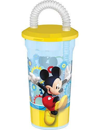 Verre en Plastique avec Paille Mickey 45 cl