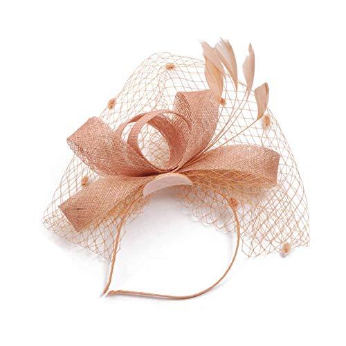 Ouken Frauen-Tee-Hut-Hochzeit Kentucky Kult Feder Fascinator Hüte Für Mädchen -