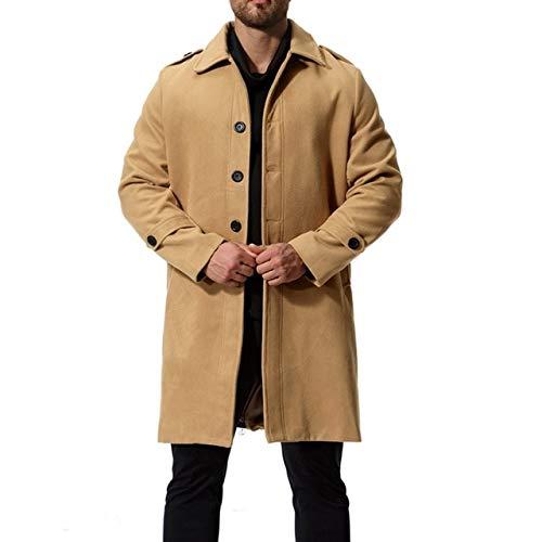 Almaoshcappotto da uomo autunno inverno cappotto lungo in lana di alta qualità cappotto in lana per uomo cappotto svasato cappotto per il tempo libero cammello
