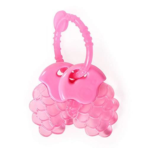 Cangaroo Beißring Traube T2215, BPA-frei, Kühlbeißring Zahnungshilfe ab 3 Monate rosa