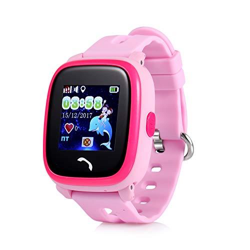 JBC GPS-Telefon Uhr Kleiner Pirat-Pink-Wasserdicht OHNE Abhörfunktion, für Kinder, SOS Notruf+Telefonfunktion, Live GPS+LBS Positionierung, funktioniert weltweit, Anleitung+App+Support auf deutsch