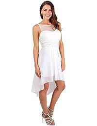 KRISP® Femmes Robe de Soirée Brodée à Fleurs Cérémonies