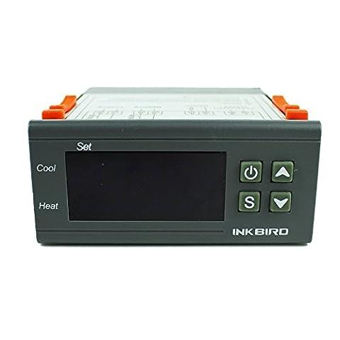 inkbird 12V double Relais Thermostat contrôleur de température Sonde pour voiture véhicule, Machine Système, ordinateur