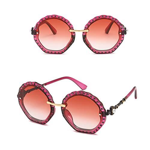 Erisl Damen Sonnenbrille, Brillenrahmen, Kunstdiamanten, Perlenblumen-Stil
