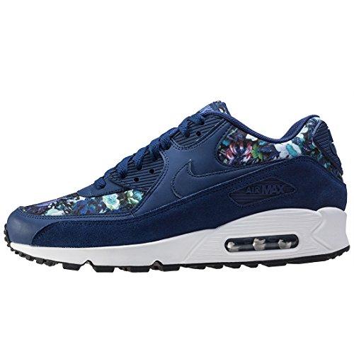 Nike  Air Max 90 Se Print,  Damen Durchgängies Plateau Sandalen mit Keilabsatz Binary Blue / Blue Moon