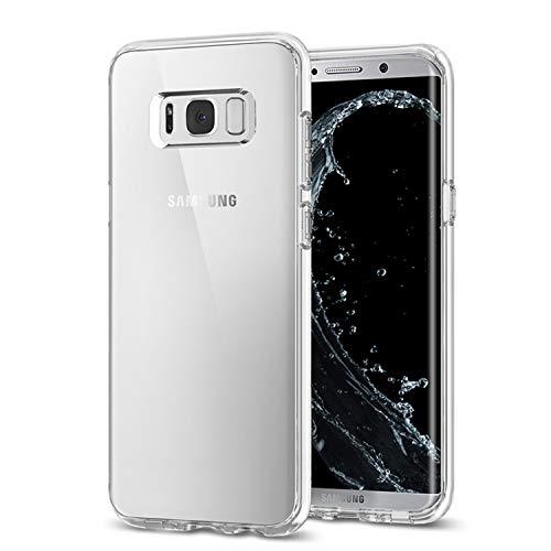 Whew Hülle Kompatibel Samsung Galaxy S8, Transparent Ultra Slim TPU Schutzhülle Silikon, Anti-Kratzer, Anti-Dropping Handyhüllen, 5.8 Zoll Case Cover Kompatibel Galaxy S8