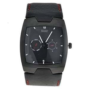 Levis - L003GUBBRB - Montre Homme - Quartz - Analogique - Bracelet Cuir Noir