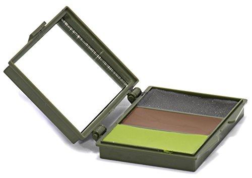 Nitehawk Camouflage-Schminkset, 3 Farben, mit Spiegel