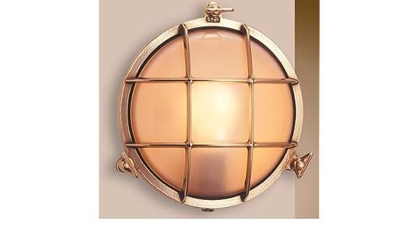 Plafoniera Ottone Esterno : Art.2028.ls lampada plafoniera in stile marinaro ottone per