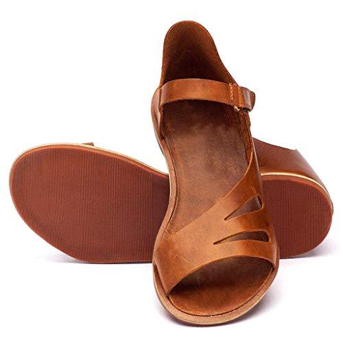 Sandalias Mujer Verano Zapatos Romanos Color Liso