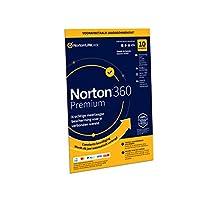 Norton 360 Premium 2020, 10 Apparaten, 1 Jaar abonnement met automatische verlenging, Secure VPN en Password Manager, PCs, Macs, tablets en smartphones,envelop, past in de brievenbus