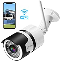 [Updated Version] CPVAN 1080P Outdoor Security Camera, IP66 Waterproof WiFi Bullet Camera, Wireless IP Camera System with 82ft Night Vision,Two Way Audio, Motion Detection, Ideal for Home/Office/Store